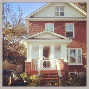 sault house - exterior temp railing shot