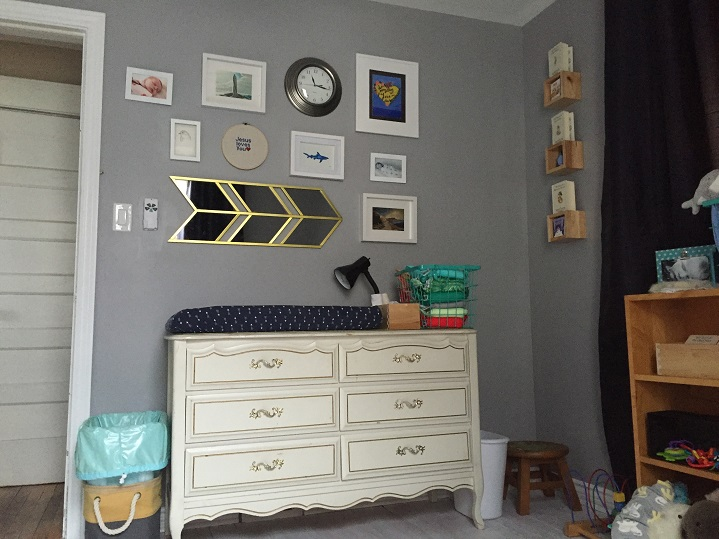 Above The Dresser Is The Gallery Wall: